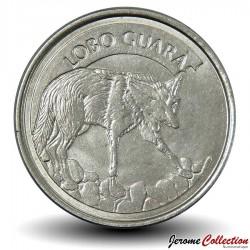 BRESIL - PIECE de 100 Cruzeiros reais - Loup - 1993 Km#630