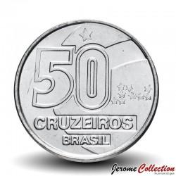 BRESIL - PIECE de 50 Cruzeiros - Série métiers : Femme de marché de Bahia - 1992