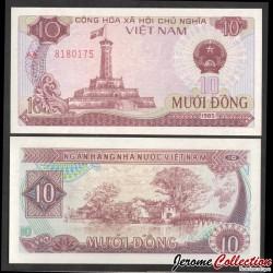 VIETNAM - Billet de 10 Dong - Tour du drapeau - 1985 P93a