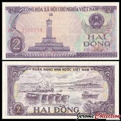 VIETNAM - Billet de 2 Dong - Tour du drapeau - 1985 P91a