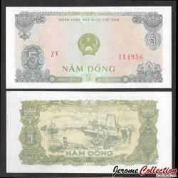 VIETNAM - Billet de 5 Dong - Poissonnerie - 1976 P81a