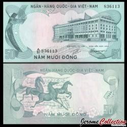 SUD VIETNAM - Billet de 50 Dong - Chevaux - 1972 P30a