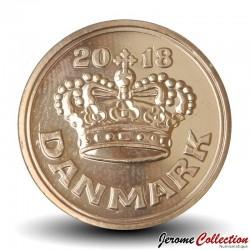 DANEMARK - PIECE de 50 øre - La couronne de Christian V - 2018