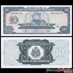 HAITI - Billet de 10 Gourdes - Catherine Flon - 1999 P256c