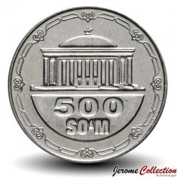 OUZBEKISTAN - PIECE de 500 Som - Palais des congrès - 2018 Km#new