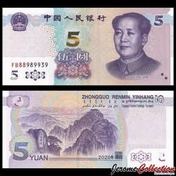 CHINE - BILLET de 5 Yuan - Mont Taishan - 2020 P913a