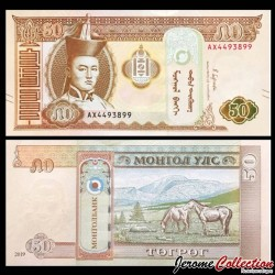 MONGOLIE - Billet de 50 Tögrög - 2019 P64e