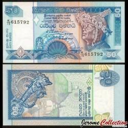 SRI LANKA - Billet de 50 Roupies - Pierre de lune - 1992 P104b