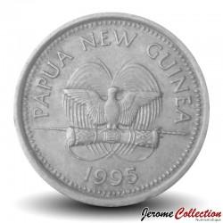 PAPOUASIE NOUVELLE GUINEE - PIECE de 5 Toea - Tortue à nez de cochon - 1995