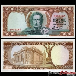 URUGUAY - Billet de 5000 Pesos - Général José Gervasio Artigas - 1967 P50b