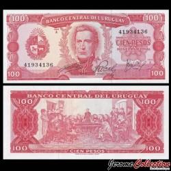 URUGUAY - Billet de 100 Pesos - Général José Gervasio Artigas - 1967 P47a9