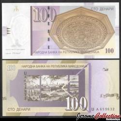 MACEDOINE DU NORD - Billet de 100 Denari - Ville de Skopje - 2005 P16f