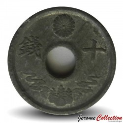 JAPON - PIECE de 5 Sen - Ere Showa - 1944
