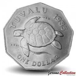 TUVALU - PIECE de 1 Dollar - Tortue - 1985 Km#7