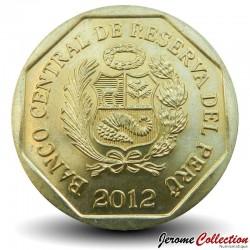 PEROU - PIECE de 20 Centimos - Motifs précolombiens - 2012