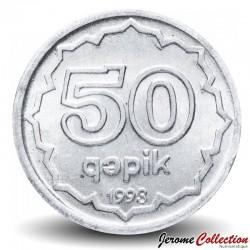 AZERBAÏDJAN - PIECE de 50 Gepik - Tour en ruines - 1993