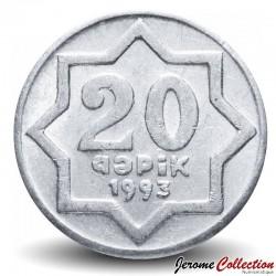 AZERBAÏDJAN - PIECE de 20 Gepik - Lune et étoile - 1993