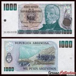 ARGENTINE - Billet de 1000 Pesos - El Paso de los Andes - 1984 P317b