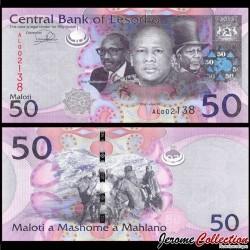 LESOTHO - Billet de 50 Maloti - Cavaliers - 2013 P23b