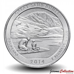 ETATS UNIS / USA - PIECE de 25 Cents - America the Beautiful - Parc national et réserve de Great Sand Dunes - 2014 - D Km#569