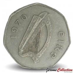 IRLANDE - PIECE de 50 Pence - Une bécasse - 1970