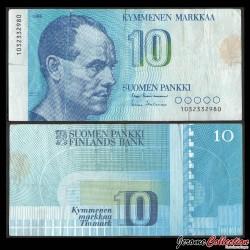 FINLANDE - Billet de 10 MARKKAA - Paavo Nurmi - 1986