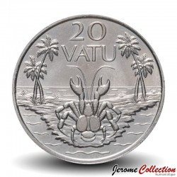 VANUATU - PIECE de 20 Vatu - Crabe de cocotier - 1999 Km#7