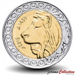 ALGÉRIE - PIECE de 20 Dinars - Tête de lion de l'Atlas - Bimétal - 2018 Km#125