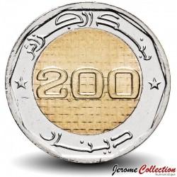 ALGÉRIE - PIECE de 200 Dinars - 50 ans de l'indépendance - Bimétal - 2017