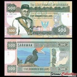 SARAWAK - Billet de 500 DOLLARS - Toucan - 2017