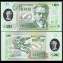 URUGUAY - Billet de 20 Pesos - Juan Zorilla de San Martín - Polymer - 2020