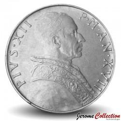 VATICAN - PIECE de 50 Lires - Fides (La foi) - Pie XII - 1955