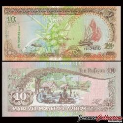 MALDIVES - Billet de 10 Rufiyaa - 1998 P19a