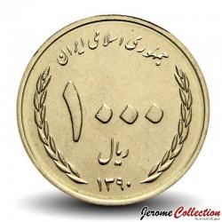 IRAN - PIECE de 100 Rials - Bouquet de Jonquilles - 2011