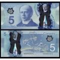 CANADA - Billet de 5 DOLLARS - Polymer - 2013