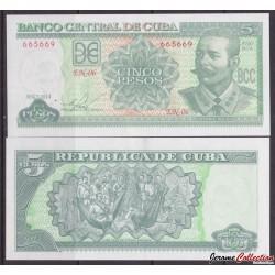 CUBA - Billet de 5 Pesos - 2014