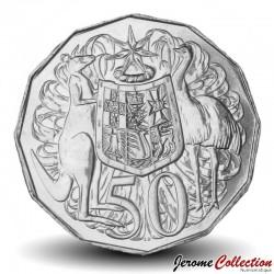 AUSTRALIE - PIECE de 50 Cents - Armoiries de l'Australie - 2018 Km#404