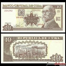 CUBA - Billet de 10 Pesos - Antonio Maceo - 2014