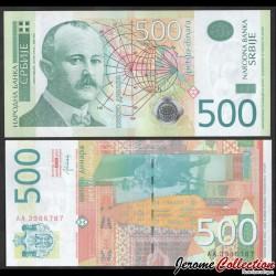 SERBIE - Billet de 500 Dinara - 2007 - Jovan Cvijić P59b