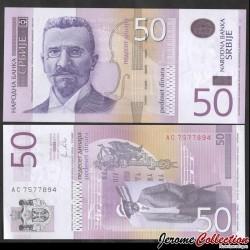 SERBIE - Billet de 50 Dinara - Stevan Stojanović Mokranjac - 2011 P56a
