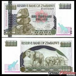 ZIMBABWE - Billet de 1000 DOLLARS - Elephants - 2003 P12b