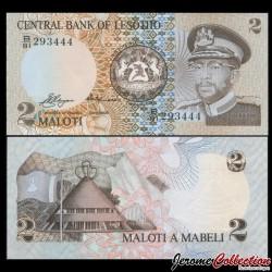 LESOTHO - Billet de 2 Maloti - Roi Moshoeshoe II - 1981 P4a