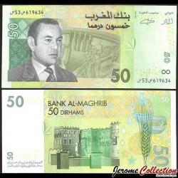 MAROC - Billet de 50 DIRHAMS - Roi Mohammed VI - 2002 P69a