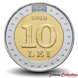 MOLDAVIE - PIECE de 10 Lei - 25 ans de la monnaie nationale - 2018
