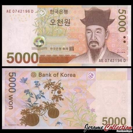 CORÉE DU SUD - Billet de 5000 Won - 2006 P55a