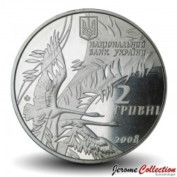 UKRAINE - PIECE de 2 Hryvni - Vasyl Symonenko - 2008 Km#490