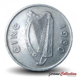 IRLANDE - PIECE de 5 Pence - Taureau - 1980