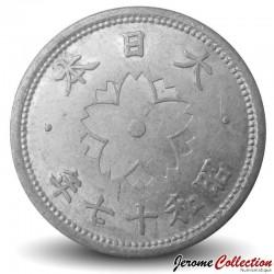 JAPON - PIECE de 10 Sen - Chrysanthème - Showa - 1942 Y#61