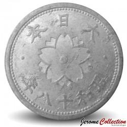 JAPON - PIECE de 10 Sen - Chrysanthème - Showa - 1943 Y#61