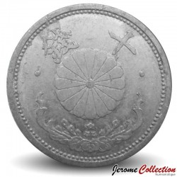 JAPON - PIECE de 10 Sen - Chrysanthème - Showa - 1943